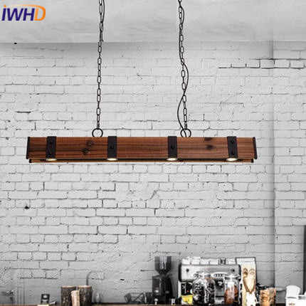 Iwhd американский стиль деревянный винтажный подвесной