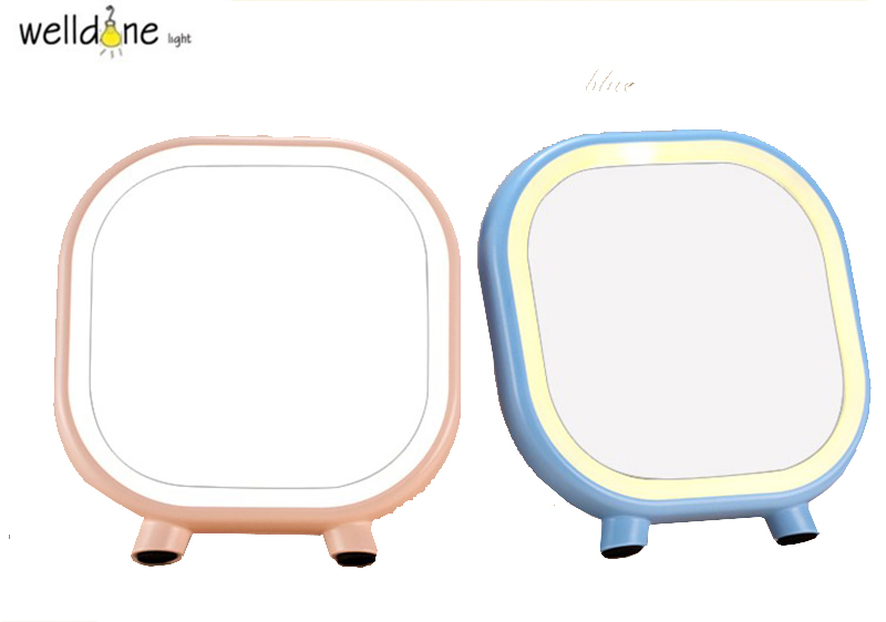 Rechargeable Touch Screen Lighted Makeup Mirror LED Lamp Table Stand Cosmetic Mirror Night Light usb rechargeable touch sensor led cartoon birdcage night light