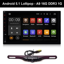 "7"" Android 5.1 Lollipop Car Pad Tablet PC 2-Din Auto GPS Entertainment Dash Radio Stereo A9 Quad Core DDR3 1G Backup Camera"