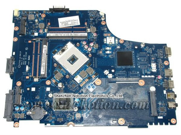 NOKOTION P7YE0 LA-6911P Laptop motherboard For Acer Aspire 7750 7750Z Intel hm65 DDR3 MBRN802001 MB.RN802.001 nokotion nbm1011002 48 4th03 021 laptop motherboard for acer aspire s3 s3 391 intel i5 2467m cpu ddr3