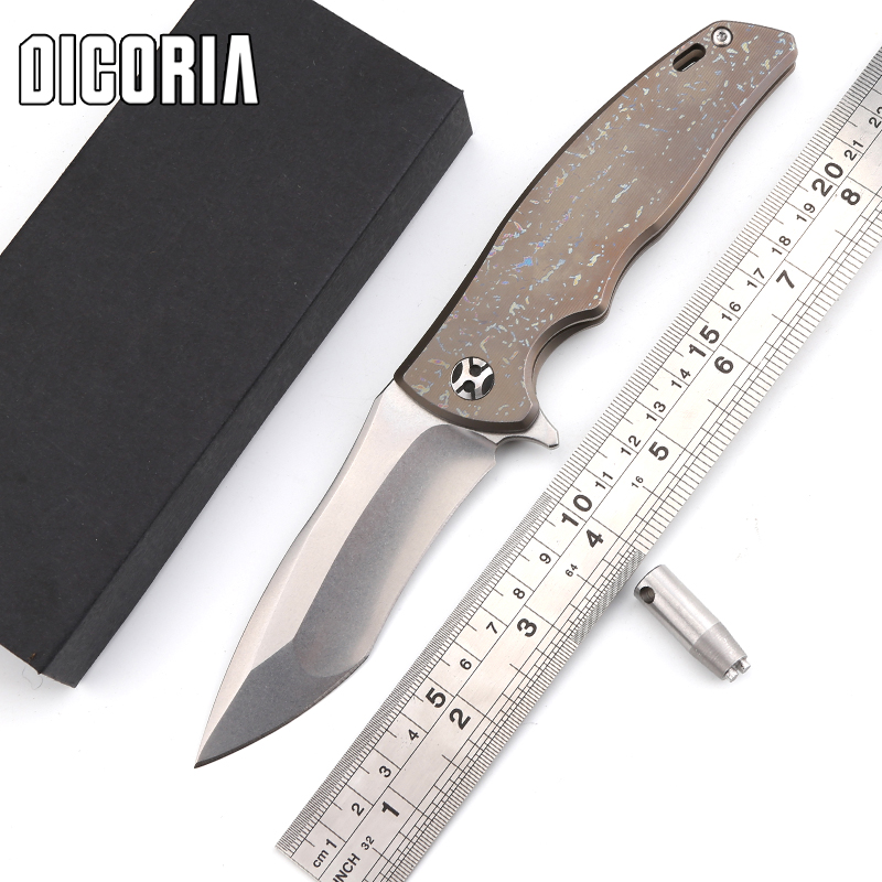 DICORIA Matsuda male KM-610 SUBARU tactical knife D2 blade TC4 titanium handle outdoor gear camp hunting pocket knives EDC tools bestlead chinese peony pattern zirconia ceramics 4 6 knife chopping knife peeler holder