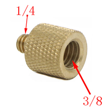 1/4″ to 3/8″ Male to Female Thread Screw Mount Adapter Tripod Plate Screw mount for Camera Flash Tripod Light Stand