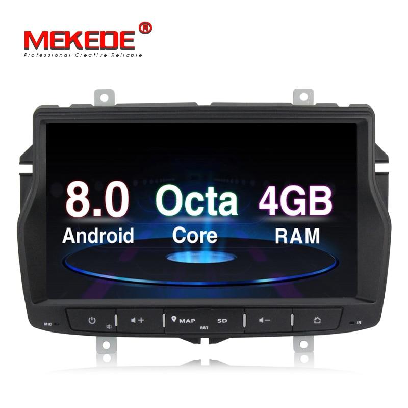 Menu russo frete grátis 4g RAM 1din rádio do carro DVD player multimídia para Lada vesta Android 8.0 núcleo octa com wifi GPS BT