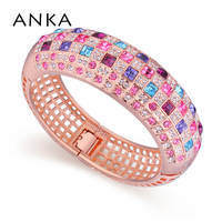 Pulseiras Bracelets Bangles Crossfit For Women Amazing Rose Gold Color Multicolor Crystals From Austrian Cuff Bracelet #116673