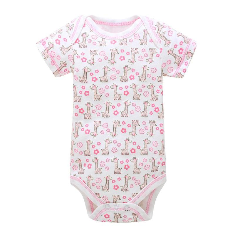 Summer Unisex Newborn Baby Breathable Romper Short Sleeve Cotton Fashion Floral O-Neck Soft One-Pieces Romper Clothes Playsuits