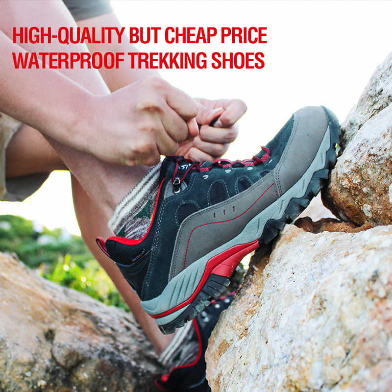bfbf73e2c7c US $41.35 12% OFF|Russia Domestic Delivery Outdoor Hiking Boots Clorts  Suede Leather Climbing Shoes Men Waterproof Mountain Hiking Shoes HKL  815-in ...