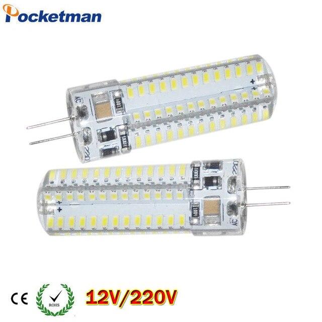 Светодио дный g4 AC 220 В DC 12 В светодио дный лампы SMD 3014 3 Вт 4 Вт 5 Вт 6 Вт 7 Вт заменить 10 Вт 30 Вт галогенная лампа свет 360 Угол луча светодио дный лампы