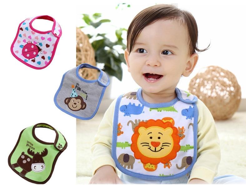 1 pieza bebé niña niño toalla Saliva impermeable nuevo patrón de dibujos animados niños 3 capas niño almuerzo Baberos Burp paños