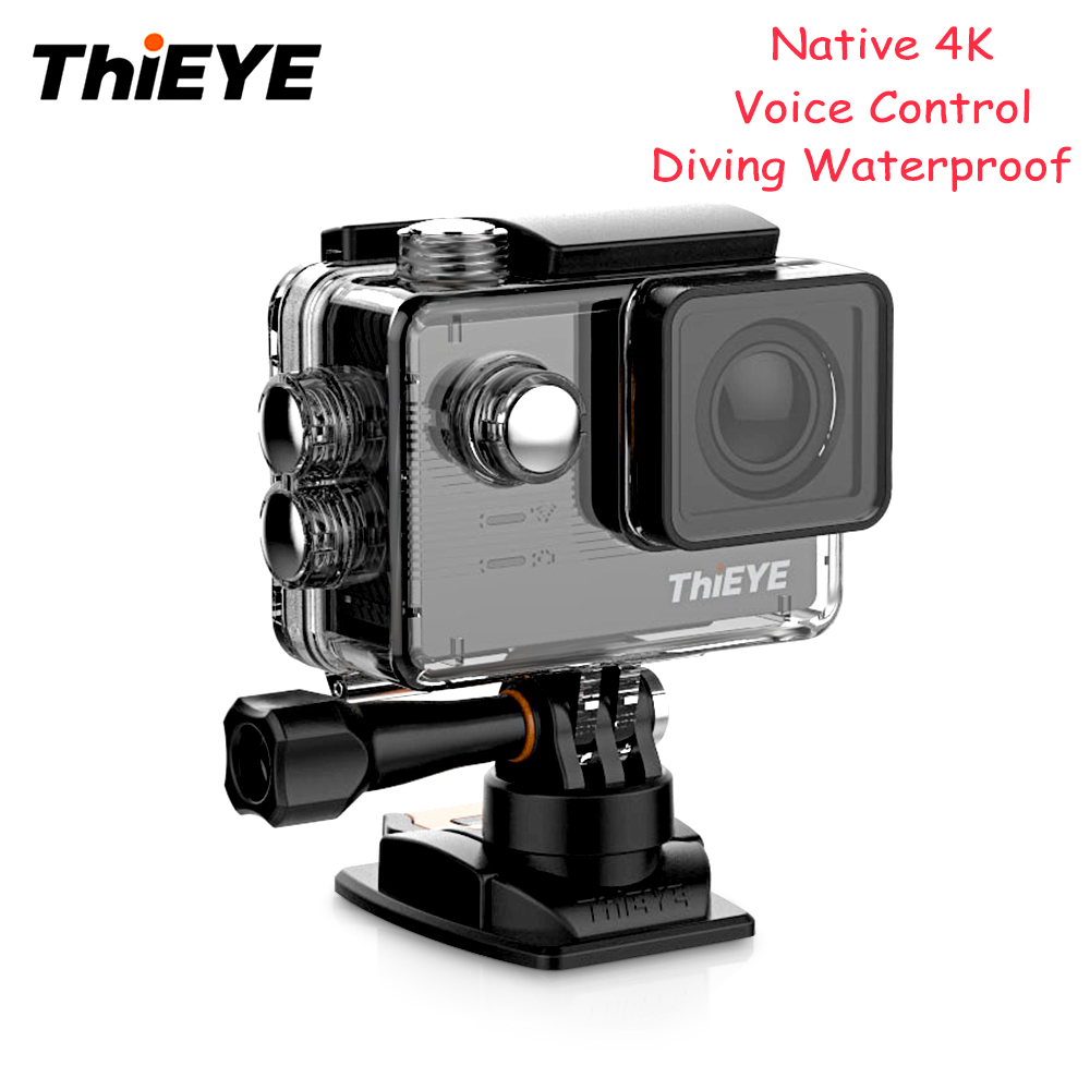ThiEYE E7 Sport Action Camera WiFi 60m Waterproof 4K 30FPS 170 FOV Voice Control Action Camera 2.0 Inch LCD Diving Action Camera 4k 30fps action camera wifi 1080p uhd 2 0 lcd screen 30m waterproof diving 170 degree sport action camera dv camera