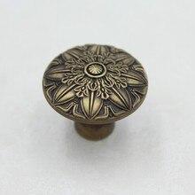 35mm Kitchen Cabinet Knobs Bronze Dresser Handles Bronze Zinc Alloy Drawer Dresser Wardrobe Handles Pulls knobs Js78
