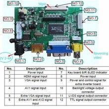 Универсальный HDMI VGA 2AV 50PIN TTL LVDS плата контроллера Модуль монитор Комплект для Raspberry PI LCD AT070TN92 tn90 94 панель