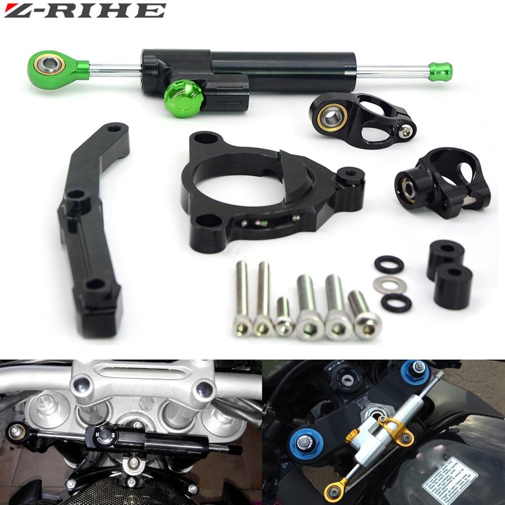 Motorcycle Steering Stabilize Damper with Bracket Mount Motorbike Damper Steering For Kawasaki Z800 Z 800 2013 2014 2015 2016