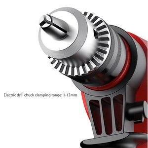 Image 5 - Martelo elétrico ferramenta elétrica multi função furadeira de impacto 220v broca elétrica do agregado familiar martelo elétrico ferramenta giratória de dupla utilização