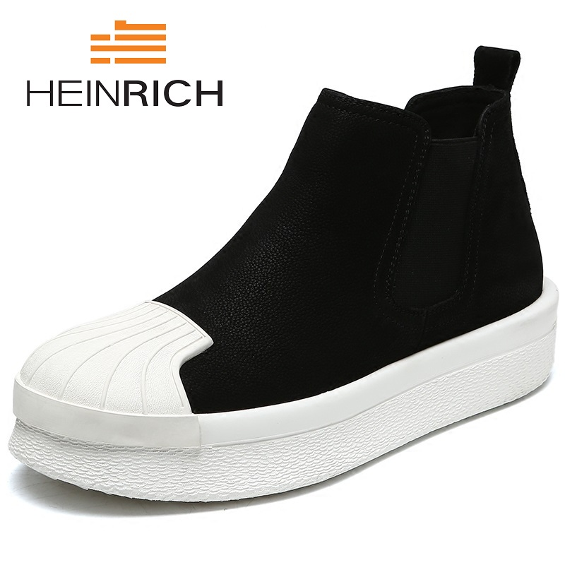 HEINRICH 2018 Fashion High Quality Comfortable Ankle Boots Casual Boots Flat Shoes Personality Business High Top Shoes BotasHEINRICH 2018 Fashion High Quality Comfortable Ankle Boots Casual Boots Flat Shoes Personality Business High Top Shoes Botas