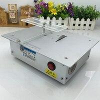 Aluminum Alloy Micro Table Saw High Precision PCB Cutting Machine Mini DIY Model Saw Precision Woodworking