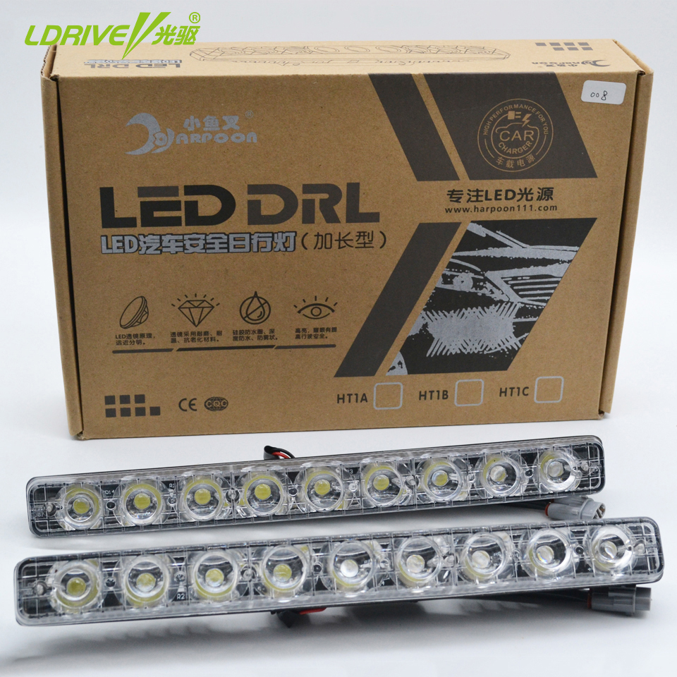 2016 New Hot Sales Super Bright White LED Daytime Running Light Metal Housing Fog Lamp LED