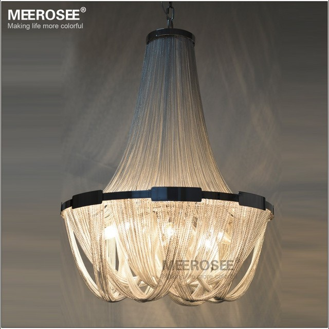 MEEROSEE French Aluminum Light Fixture Empire Vintage Hanging Light for Hotel