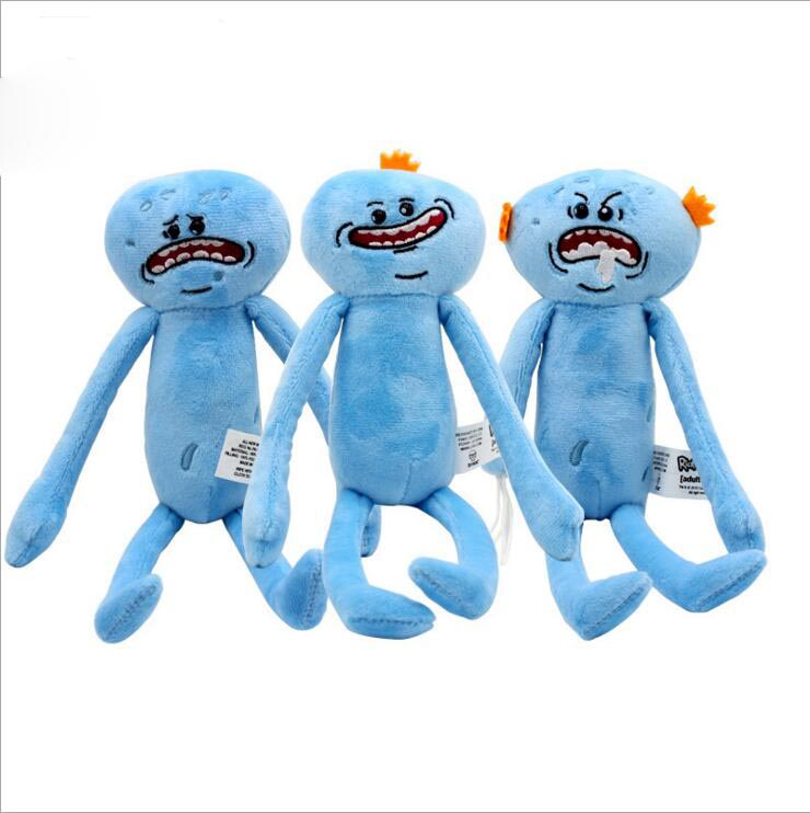 Rick and Morty Happy Sad Faces Mr Meeseeks Figures Plush Stuffed Kids Doll Toys 25cm Rick and Morty Accessories Merchandise Gift