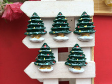 free shipping wholesale 20pc resin christmas tree flatbacks flat back scrapbooking hair bow center crafts making - Flat Back Christmas Tree