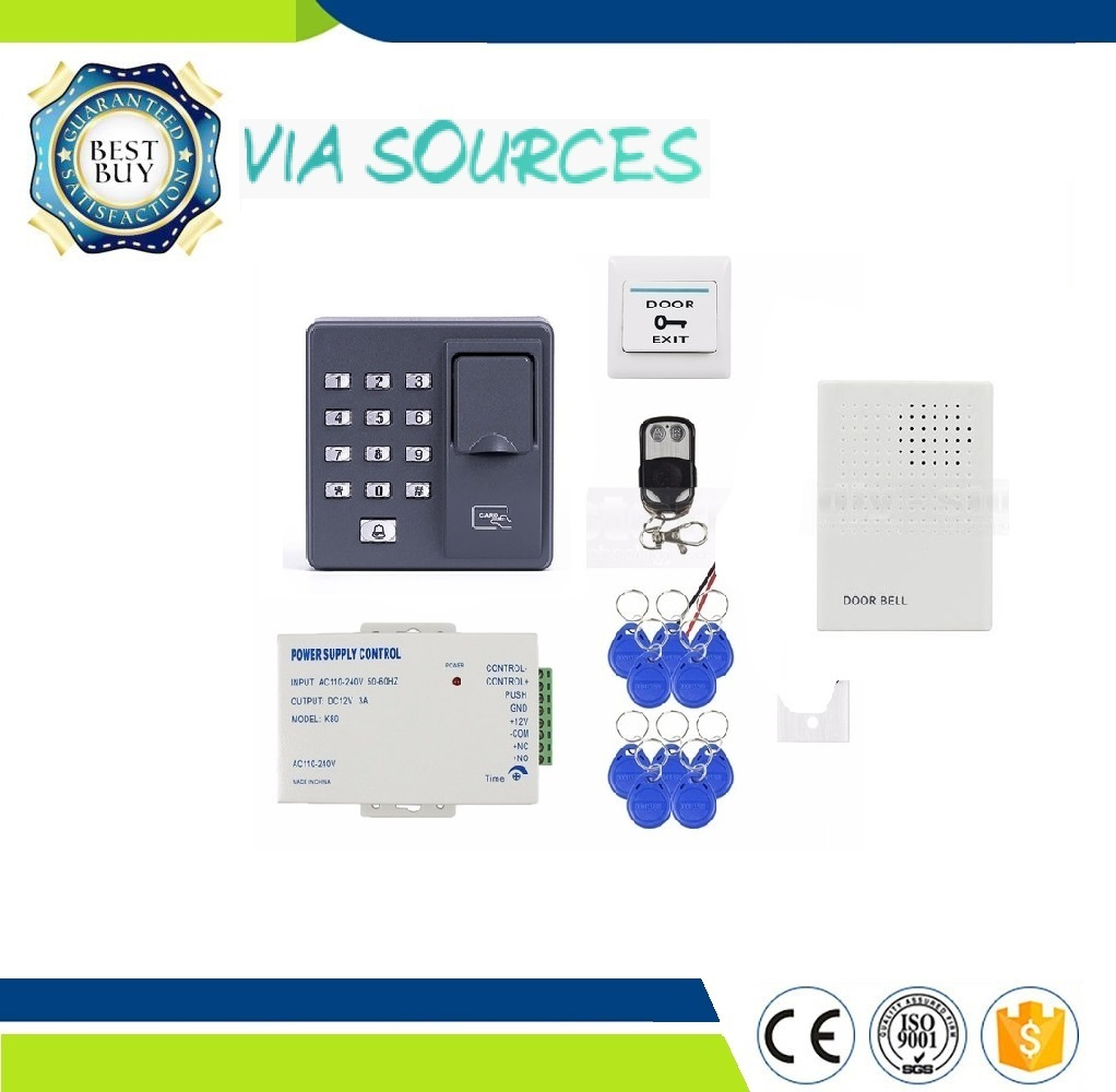 Direct Factory RFID 125KHz Biometric Fingerprint Access Control System Kit Electric Magnetic bolt/strike Lock For Door Full Set rfid door access control system remote control electric strike lock kit set with electric strike lock remote control door bell