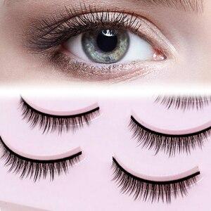 Image 3 - 5 Pairs New 3D Mink Popular Natural Short Cross False Eyelashes Daily Eye Lashes Girls Makeup Necessaries Eyelashes Maquiagem