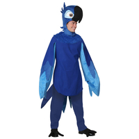 Limited Deluxe Adult Rio Blu Men Parrot Bird Animal Cosplay Costume