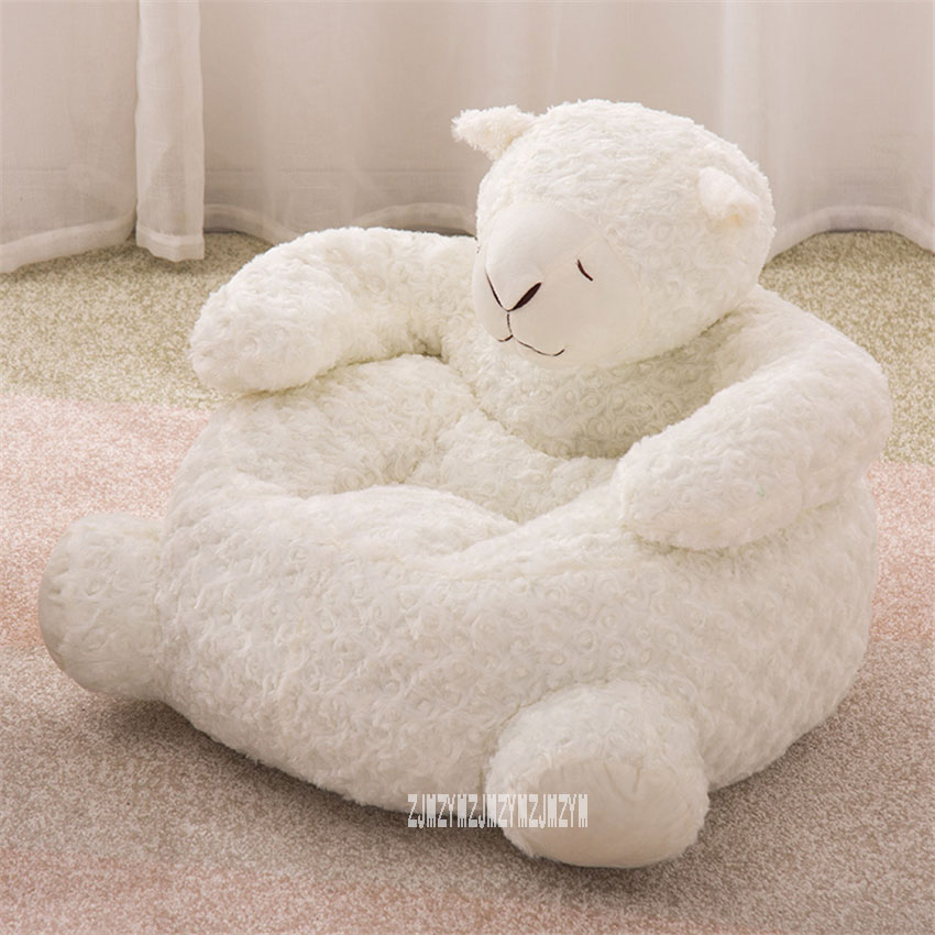 S709 Cotton Filling Cute Children's Sofa Portable Kid Cartoon Toy Animal Sofa Mini Lion Elephant Seat Baby Girl Bean Bag Chair