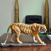 44CM large TOP COOL ART HOME Living room CLUB BAR decorative art 3D wild animal tiger FENG SHUI Ornament art statue