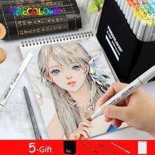 Finecolour Professional เครื่องหมายศิลปะถาวรปากกาแอลกอฮอล์ Lnk มังงะสำหรับวาด 24/36/48/60 /72 ภาพวาด Marker Set