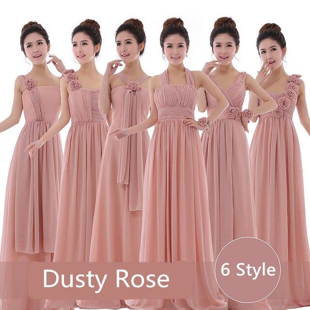 0da03db5c474 Dusty Rose Dress Cheap Bridesmaid Dresses Dusty Pink Strapless Beautiful  Vestido De Festa Longo Under 50 Party Prom Dress