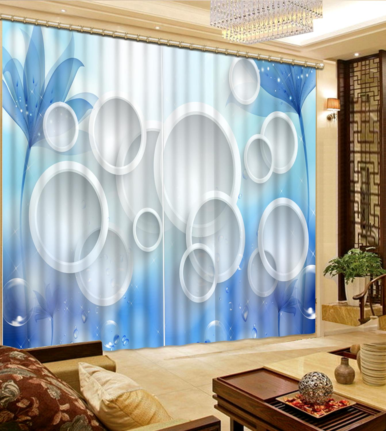 Simple and stylish customize 3D curtains Circle living room blackout curtains height modern curtainsSimple and stylish customize 3D curtains Circle living room blackout curtains height modern curtains