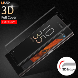 UVR 3D Curved Screen Protector Tempered Glass For Sony Xperia XZ1 XZ2 Compact X Performance XA Ultra XA1 Plus XZ Premium