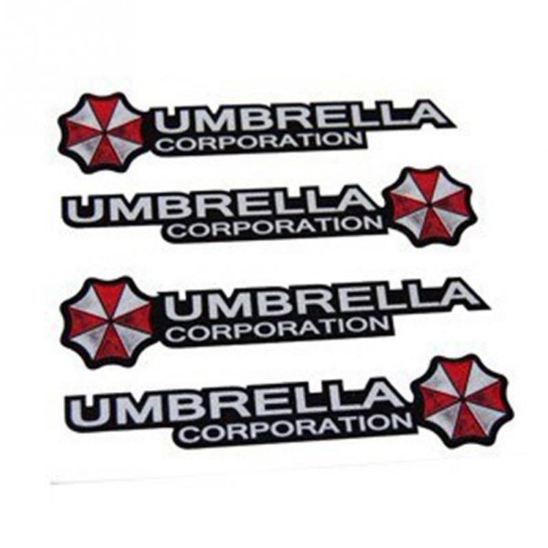 New 4Pcs Creative personality Waterproof UMBRELLA car stickers decal for door handel car styling for kia sportage