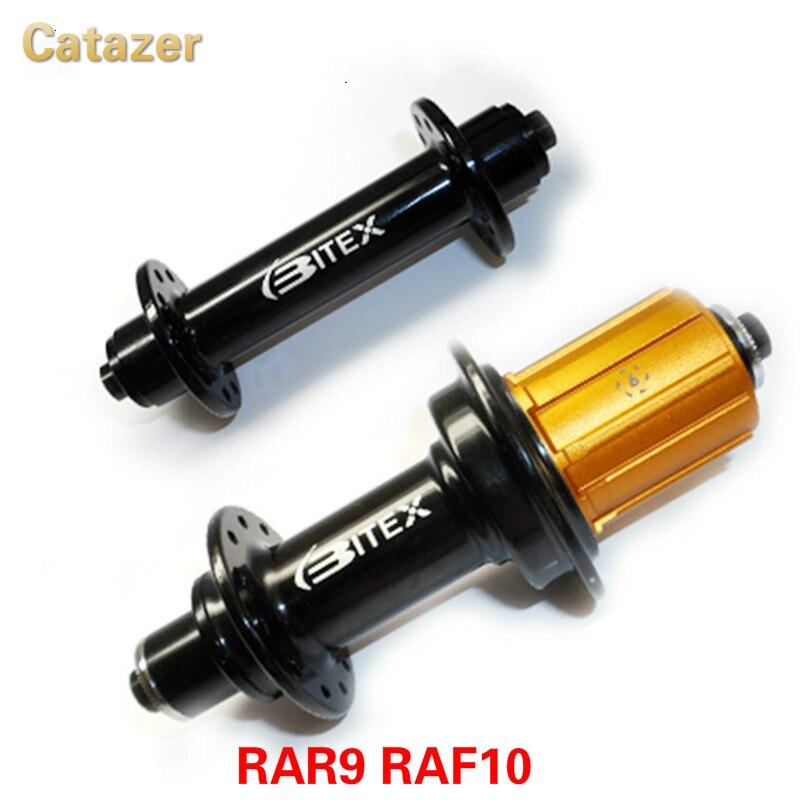 Moyeu de vélo de route RAR9 RAF10 j-bend moyeu de roulement de vélo en carbone 6 pions compatibles pour Shiman0 et Campy