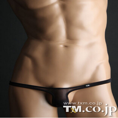 2016 New Gay Underwear Sexy Men Transparent Thong  Mens G Strings Tanga Hombre Special New TM Men's Underwear Silky Male Thongs