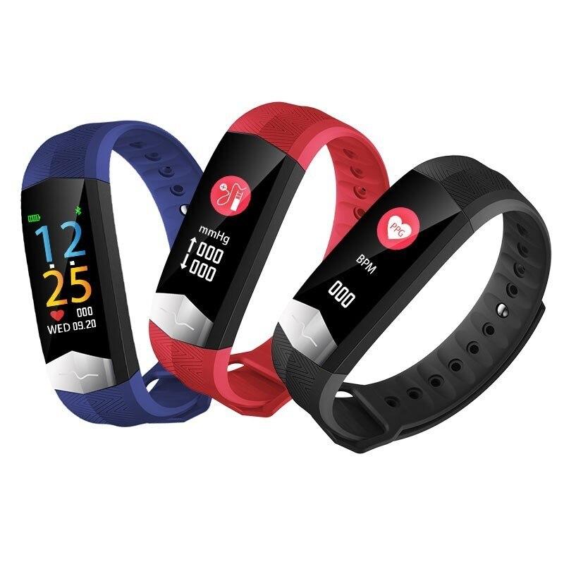MATEYOU ecg smart bracelet blood pressure heart rate measurement waterproof sports news remind health to wear in Digital Watches from Watches