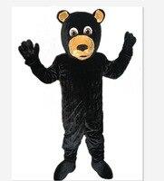2018 Высокое качество Черный Медведь талисмана Взрослый размер Заводская 100% реальные фотографии Бесплатная доставка