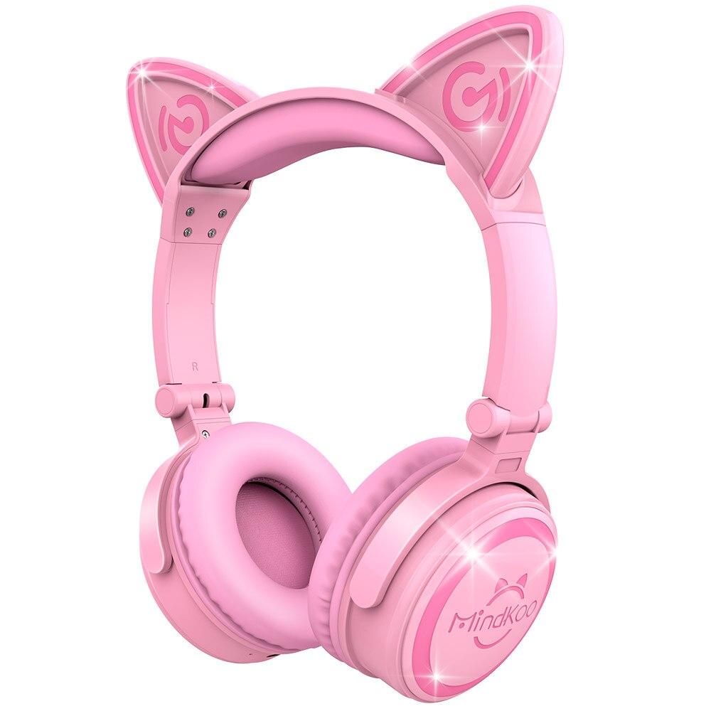 נייד מתקפל Bluetooth האלחוטית אוזניות אוזן חתול Mindkoo אורות מדהימים Haeadphones Fone דה ouvido מתנה טובה לילדים