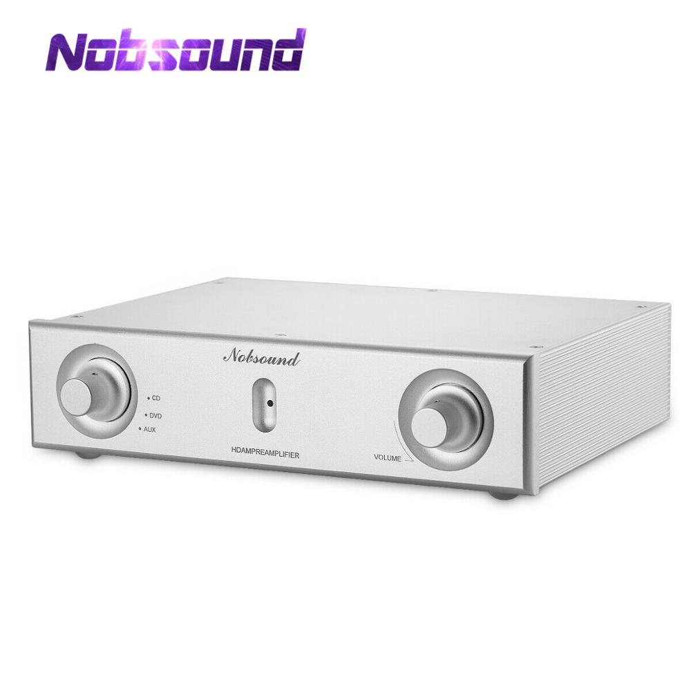 Nobsound High End HiFi Stereo Preamplifier 3-IN-1-OUT MOSFET Home Audio Digital Preamp REF Marantz HDAM Circuit