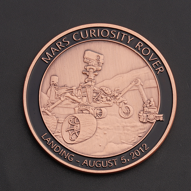 Nasa Exploration Commemorative Challenge Coin Red Bronze