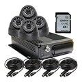 4 Canales SD Dual Del Coche DVR Del Vehículo Grabador de Vídeo g-sensor 4 Cúpula CCTV Kit de La Cámara del coche + 32G SD Para Camiones Van Bus Envío Libre