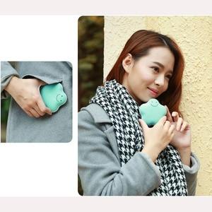 미니 usb 충전식 손 따뜻하게 럭키 스타 모양 포켓 손 따뜻하게 전원 은행 외부 충전 히터 크리스마스 선물