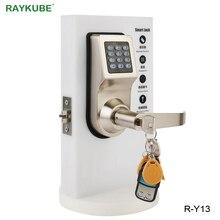 RAYKUBE Digitale Password di Serratura Elettronica Con RFID Tastiera di Controllo A Distanza di Sblocco Intelligente Serratura Per Porta di Legno R Y16