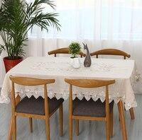 무료 배송 목회 일반 리넨 식탁보 많은 크기 코튼 & 레이스 라이트 그레이 차 테이블 천/피아노 커버