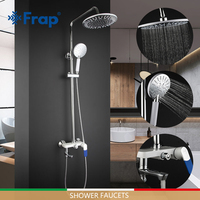 FRAP Shower Faucets bath faucet shower set chrome fashion bathroom shower mixer faucet cold and hot water adjustable tapware