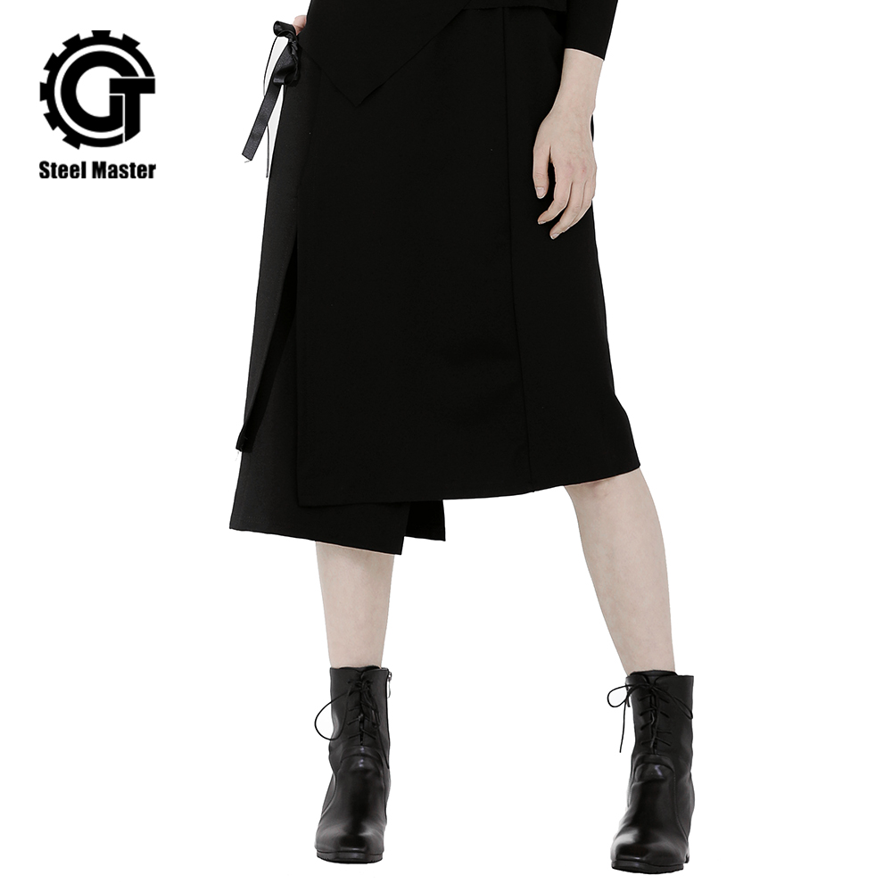 Women Skirt New Long Punk Dark Half Spring Hop Hip Gothic Tide 2019 Style Fashion Black body qnEvfIvx