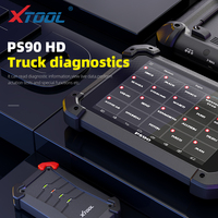 XTOOL PS90 HD OBD2 Automotive OBD2 Truck Diagnostic tool PS90 HD for Heavy duty Free update online for Multi brand With Wifi/BT