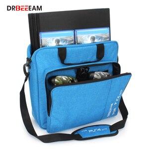 Image 1 - Handbag Multifunction Bag for PS4/PS4 PRO slim mi Original size Protect Shoulder Carry Bag Canvas Case For PlayStation 4 Consol