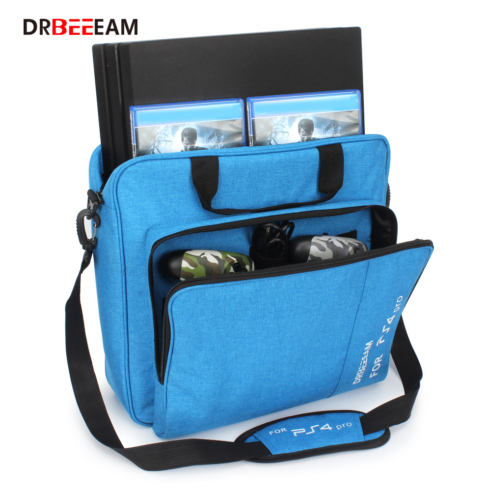Handbag Multifunction Bag for PS4/PS4 PRO slim mi Original size Protect Shoulder Carry Bag Canvas Case For PlayStation 4 Consol image