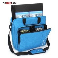 Handtas Multifunctionele Tas Voor PS4/PS4 Pro Slim Mi Originele Grootte Bescherm Schouder Draagtas Canvas Case Voor Playstation 4 Consol
